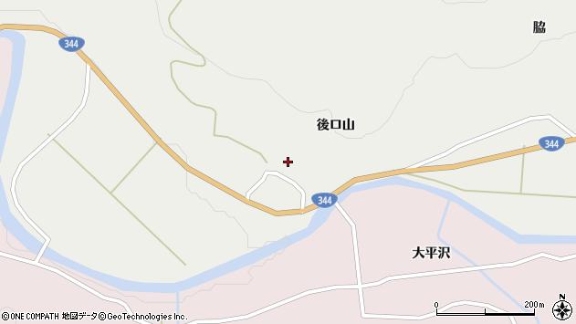 山形県酒田市大蕨後ロ山10周辺の地図