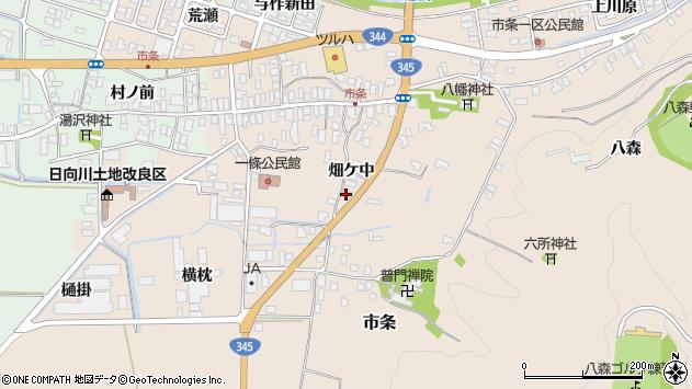 山形県酒田市市条畑ケ中24周辺の地図
