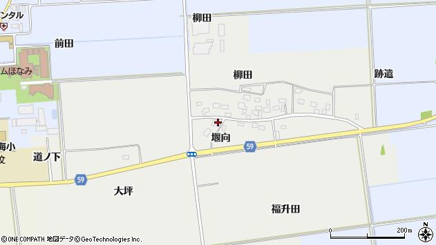 山形県酒田市豊原堰向14周辺の地図