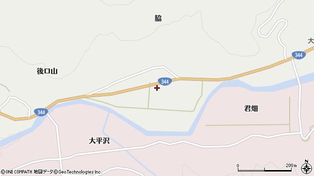 山形県酒田市大蕨脇244周辺の地図