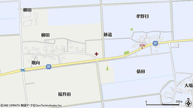 山形県酒田市豊原福升田189周辺の地図