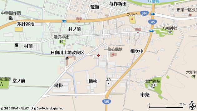 山形県酒田市市条村ノ前60周辺の地図