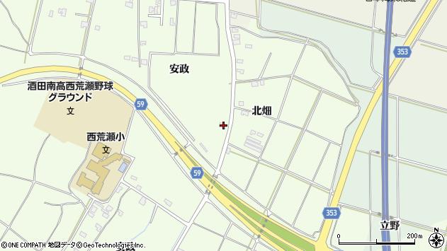 山形県酒田市宮海安政298周辺の地図