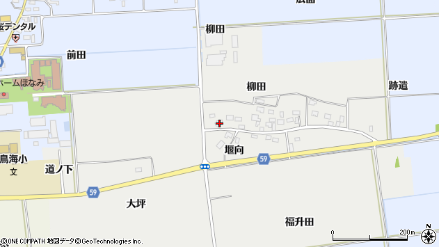山形県酒田市豊原柳田44周辺の地図