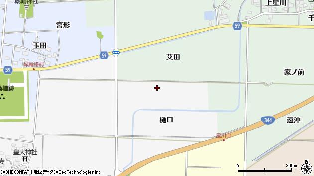 山形県酒田市刈穂樋口周辺の地図