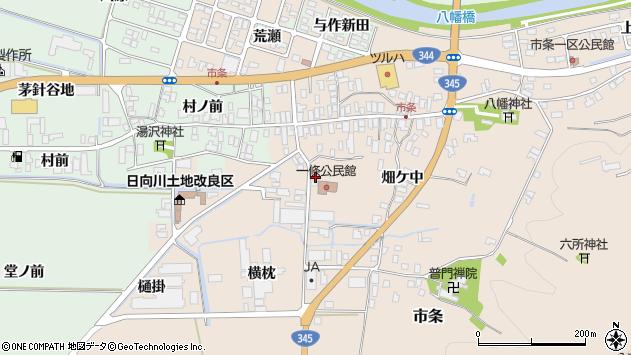 山形県酒田市市条村ノ前29周辺の地図