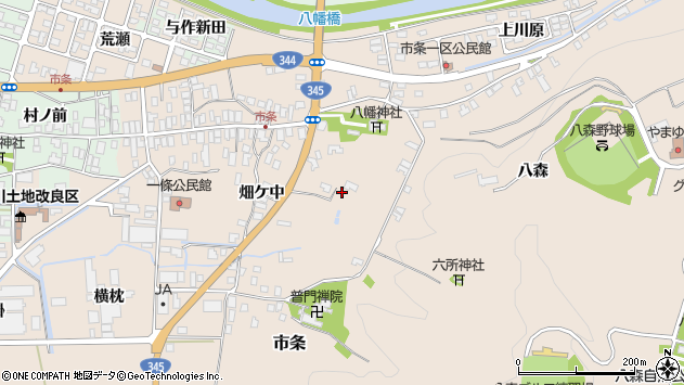 山形県酒田市市条山本6周辺の地図