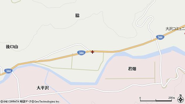 山形県酒田市大蕨脇254周辺の地図