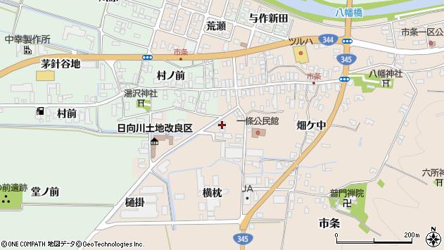 山形県酒田市市条村ノ前52周辺の地図