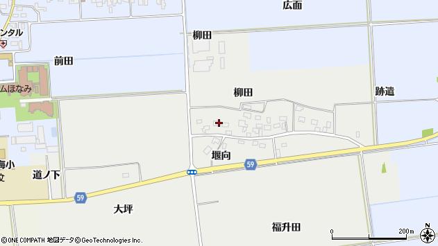 山形県酒田市豊原柳田14周辺の地図