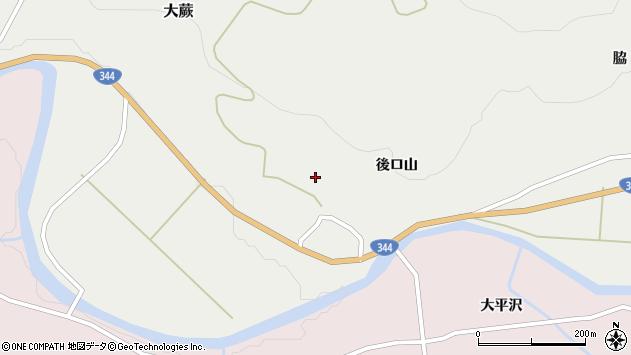 山形県酒田市大蕨後ロ山14周辺の地図
