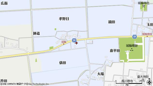 山形県酒田市城輪俵田14周辺の地図