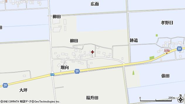 山形県酒田市豊原福升田周辺の地図