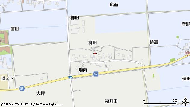 山形県酒田市豊原柳田11周辺の地図