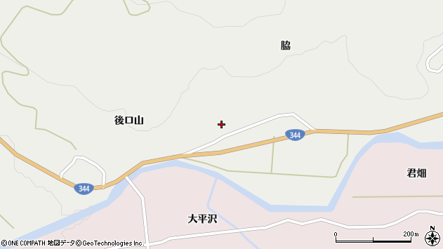 山形県酒田市大蕨脇84周辺の地図