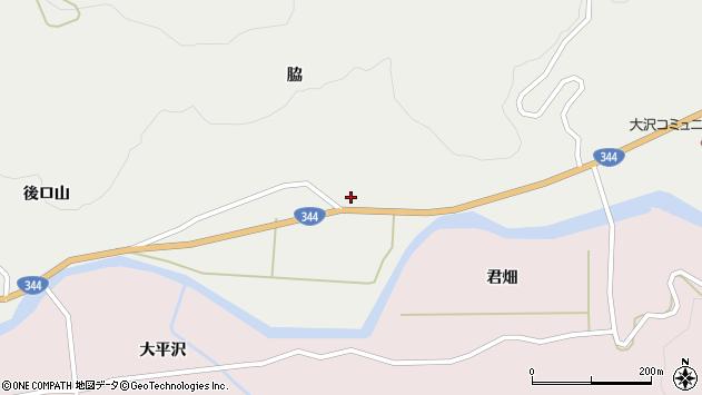 山形県酒田市大蕨脇58周辺の地図