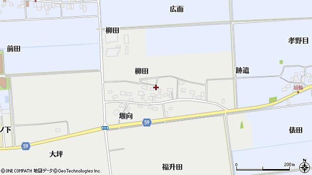山形県酒田市豊原柳田8周辺の地図