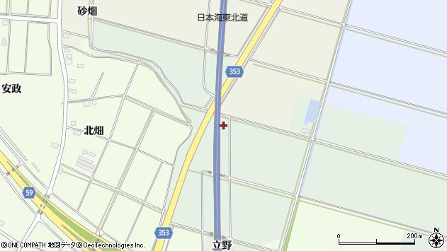山形県酒田市保岡立野周辺の地図