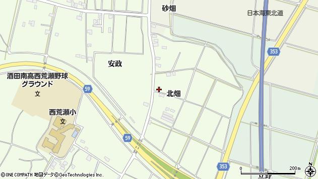 山形県酒田市藤塚北畑134周辺の地図