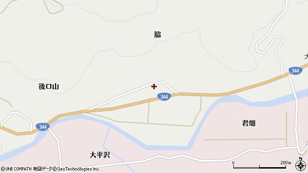 山形県酒田市大蕨脇37周辺の地図
