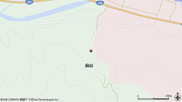 山形県酒田市常禅寺前山周辺の地図