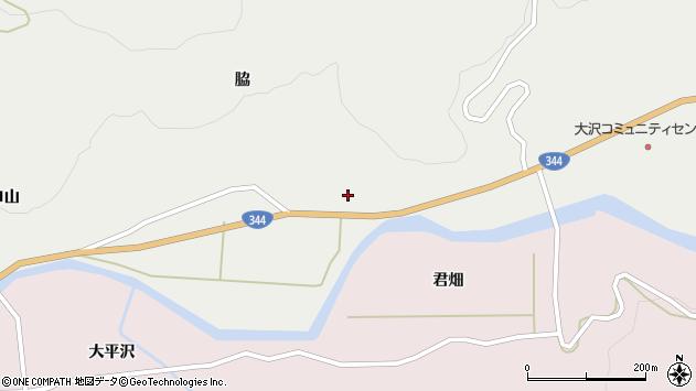 山形県酒田市大蕨脇55周辺の地図