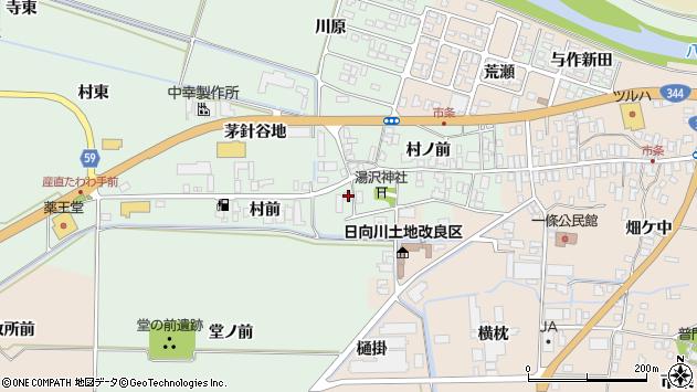 山形県酒田市法連寺村前74周辺の地図