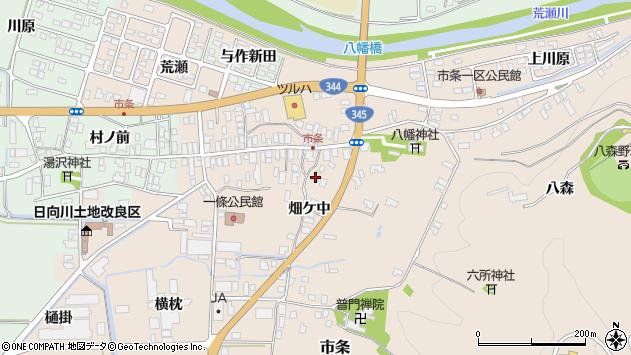 山形県酒田市市条水上19周辺の地図
