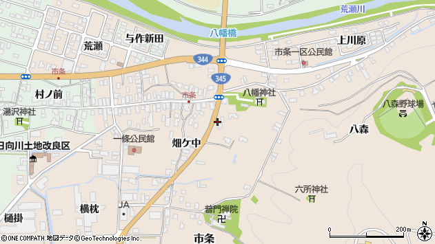 山形県酒田市市条水上12周辺の地図