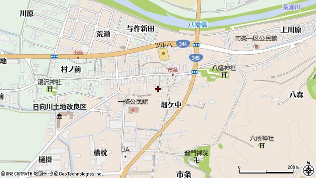 山形県酒田市市条水上26周辺の地図