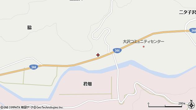 山形県酒田市大蕨下黒沢24周辺の地図