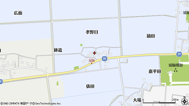 山形県酒田市城輪孝野目23周辺の地図