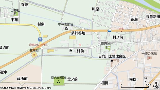 山形県酒田市法連寺村前68周辺の地図