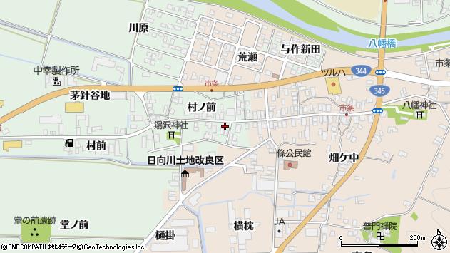 山形県酒田市法連寺村前34周辺の地図