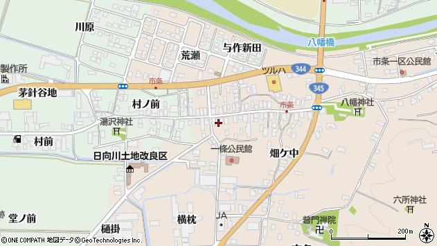 山形県酒田市市条水上38周辺の地図