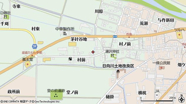 山形県酒田市法連寺茅針谷地34周辺の地図