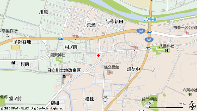 山形県酒田市市条水上40周辺の地図