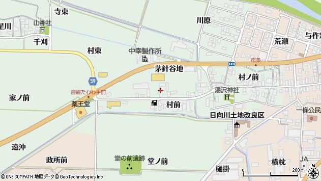 山形県酒田市法連寺茅針谷地40周辺の地図