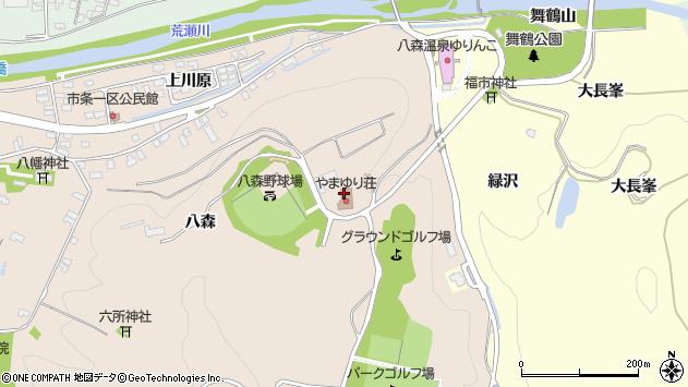 山形県酒田市市条八森周辺の地図