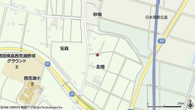 山形県酒田市藤塚北畑153周辺の地図
