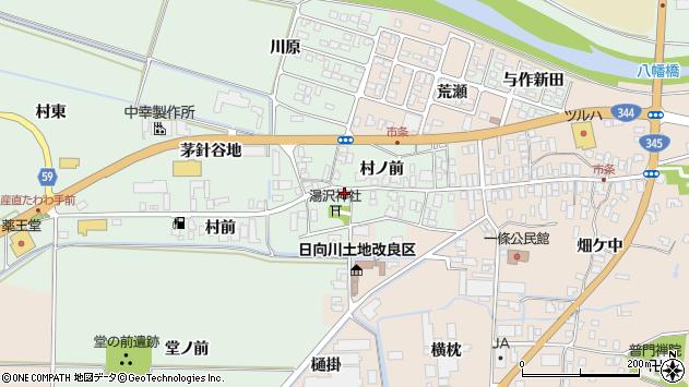 山形県酒田市法連寺村前17周辺の地図