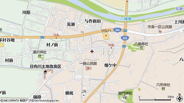 山形県酒田市市条水上32周辺の地図