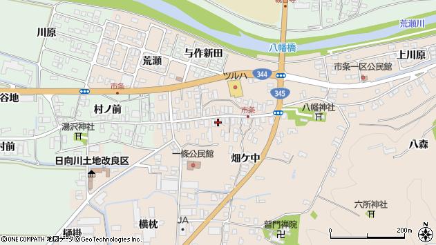 山形県酒田市市条水上29周辺の地図