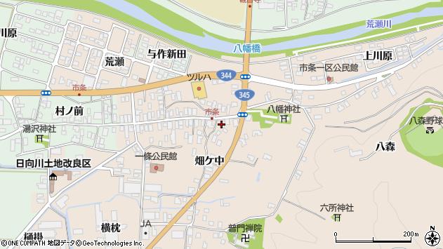 山形県酒田市市条水上18周辺の地図