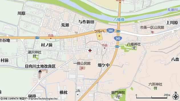山形県酒田市市条水上30周辺の地図