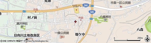 山形県酒田市市条水上25周辺の地図