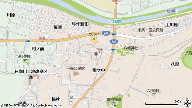 山形県酒田市市条水上22周辺の地図