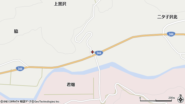 山形県酒田市大蕨下黒沢41周辺の地図