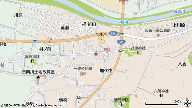 山形県酒田市市条水上28周辺の地図
