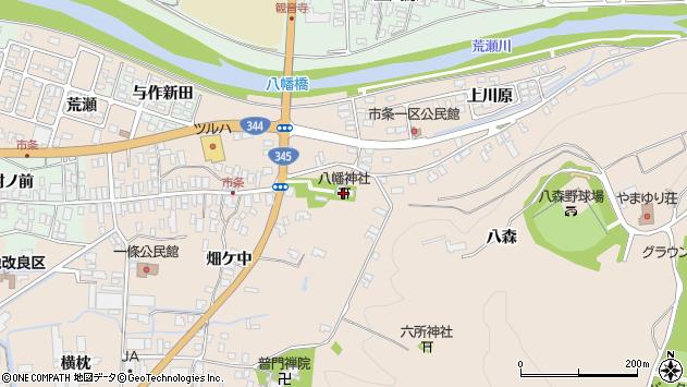 山形県酒田市市条水上1周辺の地図